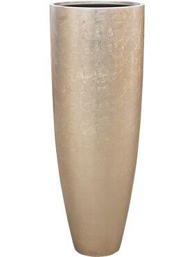 Metallic Silver leaf champagne