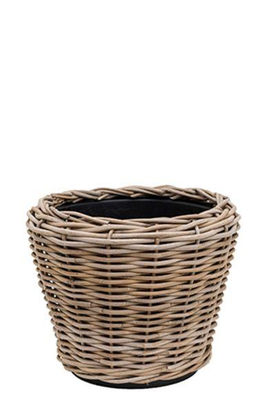 Korb Drypot Rattan - Round grey