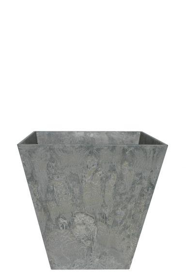Artstone plantenbak grijs vierkant 25