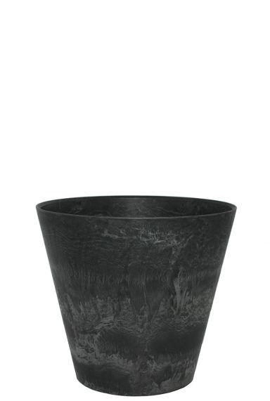 Artstone Claire Topf schwarz rund