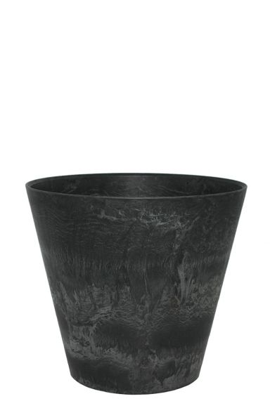 Artstone zwarte pot claire 33
