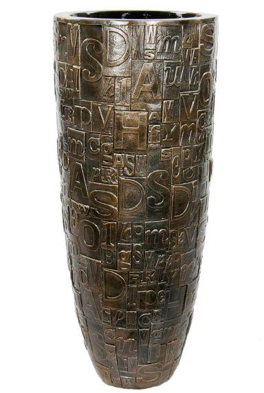 Baq brons goude plantenbak letters