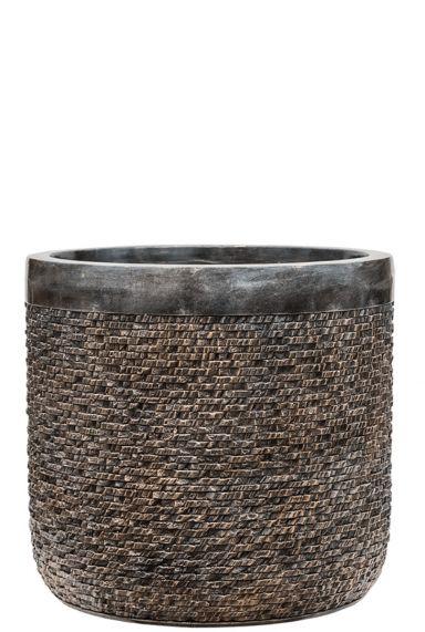 Baq brons plantenbak ribbel