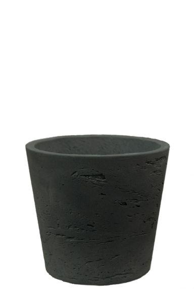 Betonlook zwart potje 14