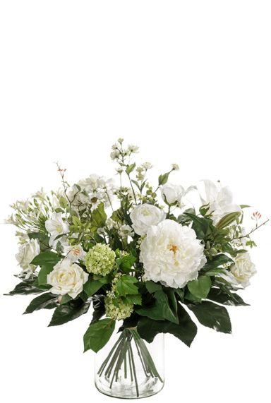 Bloemen kunstbloemen boeket