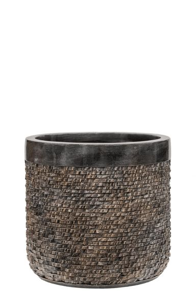 Brons kleur pot plant
