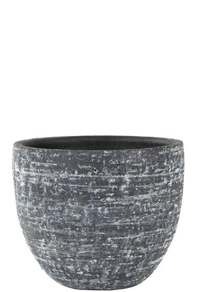 Ter Steege Indoor Pottery - Topf karlijn anthrazit