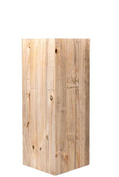 Hoge houten plantenbak