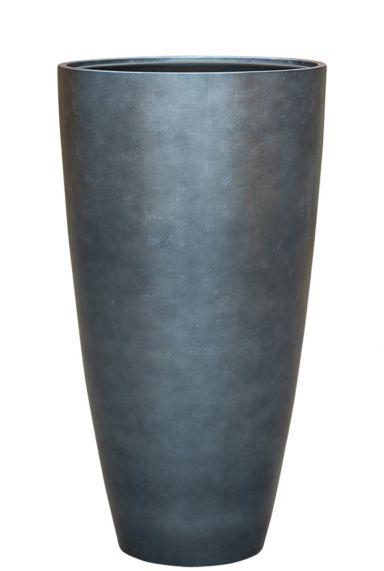 Hoge zilver blauw plantenbak