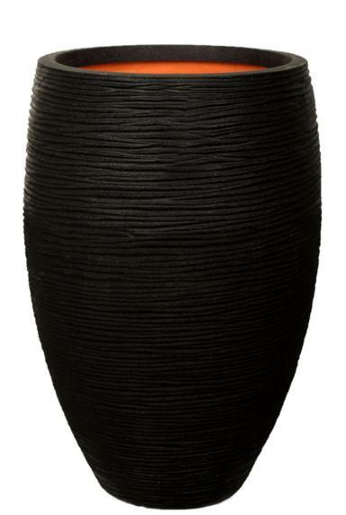 Capi Nature Rib NL hoch vase schwarz