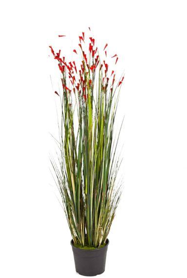 Kunstgras met bloemen