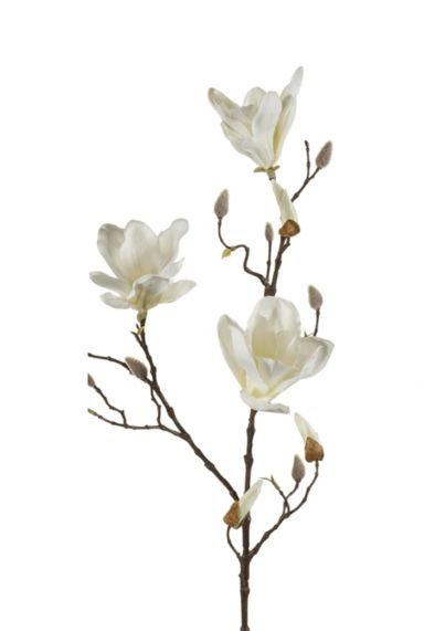 Magnolia kunstbloem tak