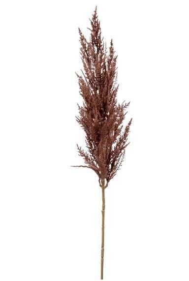 Pluim kunsttak decoratie bruin