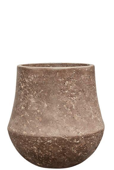 Polystone plantenpot steen