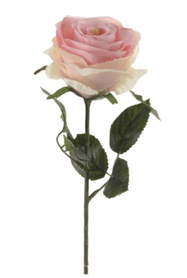 Roze roos kunstbloem