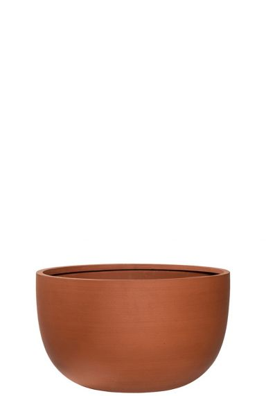 Terracotta pot refined schaal
