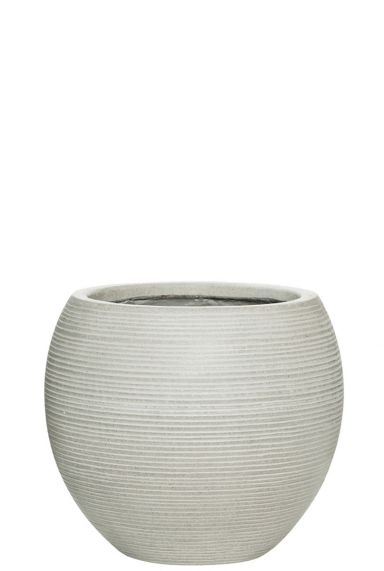Witte bloempot pottery