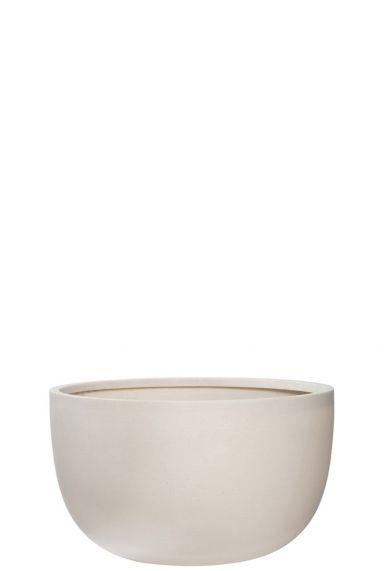 Witte pot refined schaal