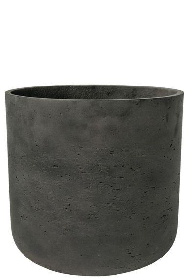 Zwarte grote pottery pot