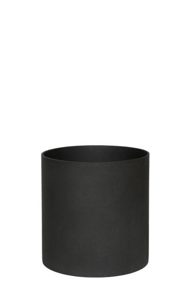 Zwarte pot voor plant
