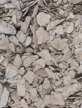 Ardoise pilee (Anthrazit) 10 - 40 mm (Sack 20 kg.)